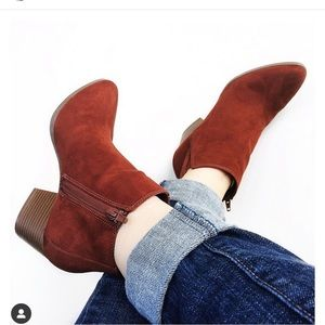 rust ankle boots